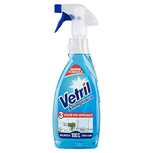 Vetril Ammoniaca Detersivo per Vetri e Multiuso senza Aloni - 650 ml