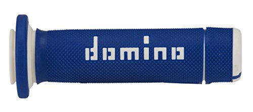 DOMINO - 83630 : Puños para ATV/Quad Domino 118mm azul/blanco A18041C4648