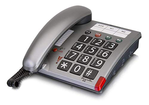 amplicomms Powertel 46 (System Phone, Seniorenfre&liches Handy)