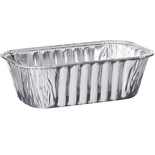 Plasticpro [1 Lb 10 Pack] Disposable Loaf Pans Aluminum Tin Foil Meal Prep Bakeware - Cookware Perfect for Baking Cakes, Bread, Meatloaf, Lasagna 1 Pound 6'' X 3.75'' X 2''