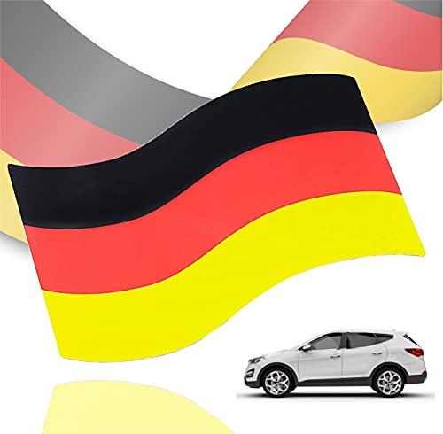 Automagnet Magnethalterung Deutschland Flagge magnetisch für PKW & Auto schwarz, rot, gelb (Gold), als Deko, Dekoration, Partydeko für Fußball, Fußball Europameisterschaft EM 2021