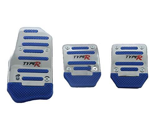 Cubierta para pedal de freno de freno de pie para coche, antideslizante, de aleación de aluminio, color azul