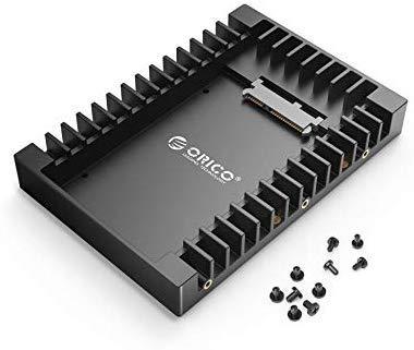 """ORICO 2,5\"""" auf 3,5\"""" interner Festplattenadapter Konverter Einbaurahmen Wechselrahmen, für 2,5-Zoll SATA HDD oder SSD von 7/9,5/12,5 mm"""