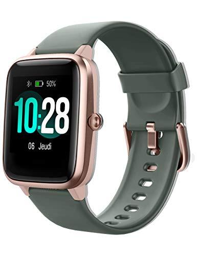 YAMAY - Reloj inteligente para mujer y hombre, pulsera inteligente, impermeable, deportivo, podómetro, cardio inteligente, vibración, fitness, rastreador de carreras, running para Android iOS