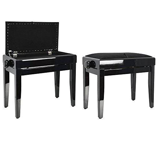 Rocket PSS01BK Piano Stool with Sheet Music Box