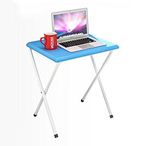 Table pliante réglable Petit Bureau d'ordinateur/Bureau Pliant de Livre/Table Extensible portative extérieure/Table multifonctionnelle Peut être tourné (Couleur : Bleu)