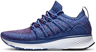 chip - New for Xiaomi Mijia Sneaker 2 Running Shoes Uni-moulding Techinique Fishbone Lock System Elastic Knitting Vamp Shock-absorbing Sole (Blue Size40)
