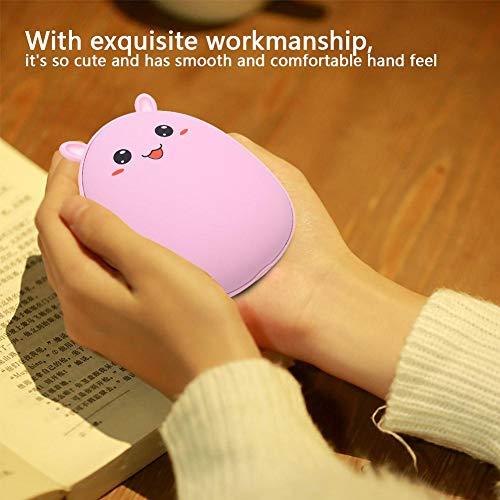 Ichiias USB-Handwärmer, Handwärmer, sicheres Büro für das Klassenzimmer der Heimbibliothek(Pink Rabbit)