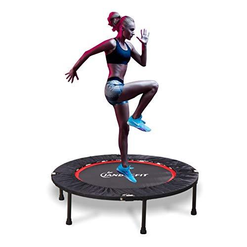 Jandecfit Trampolino Elastico Ø101cm Trampolino Pieghevole per Fitness,Mini trampolino da giardino per interni Aerobica Interni Trampolino Allenamento di Resistenza,Supporta Fino a 150 kg