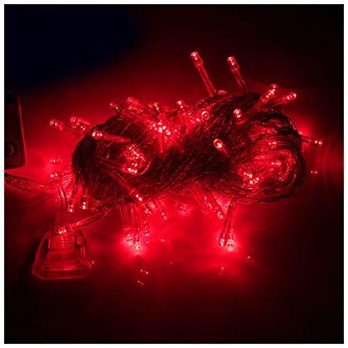 Arbre de Noël vert arbre artificiel décorations de vacances du Nouvel An LED décoration renforcement en métal support intérieur et extérieur décoration 1.8mscene (Couleur : Red, taille : 10m)