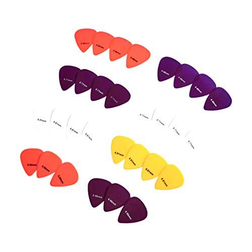 Amazon Basics - Púas de guitarra de colores lisos, de celuloide, 30 piezas