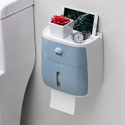Toiletpapierhouder, waterdicht, toiletpapierhouder, creatieve papieren handdoeken, houder voor keuken, badkamer, toiletpapier, opbergdoos, toiletpapierhouder blauw