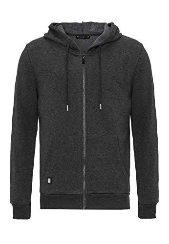 Redbridge Herren Sweatjacke Kapuzenpullover Zip Hoodie mit Reißverschluss Premium Basic Anthrazit XXL