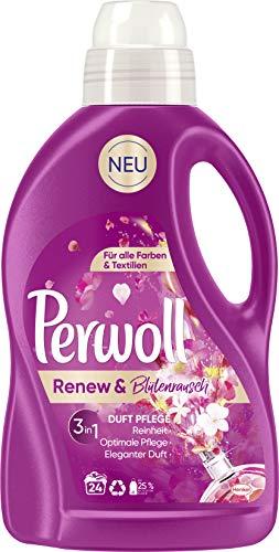 Perwoll Renew & Bloemenrausch, vloeibaar wasmiddel voor alle kleuren en textiel met elegante geur (2 x 1,44L)