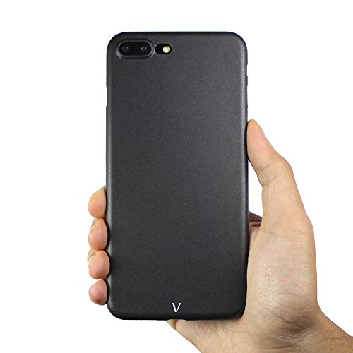 Vincoe | UltraRaw - la Carcasa para iPhone Más Delgada del Mundo (iPhone 8/7 Plus, Negro)