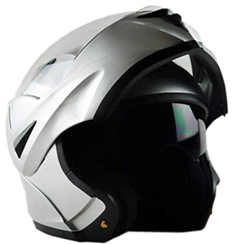ILM 6 Colors Motorcycle Dual Visor Flip up Modular Full Face Helmet ECE