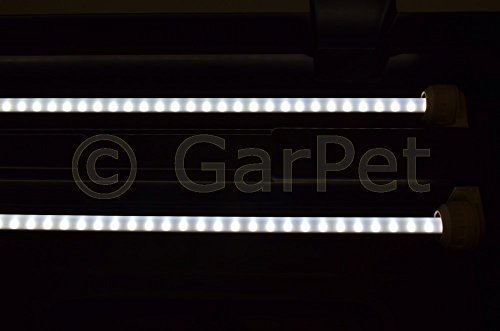 100×40 cm Aquarium Terrarium Abdeckung LED T5 2×13 W Beleuchtung schwarz Deckel - 5