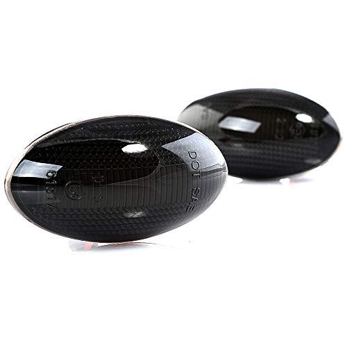2 x LED Blinkleuchte Blinker Seitenblinker mit E-Prüfzeichen Black Vision V-173308