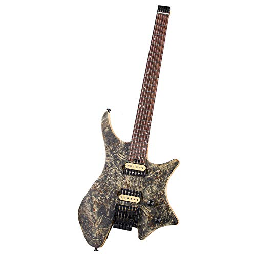 EART New Novice Entry Professional-grade Double Shake Headless Electric Guitar Metal Rock Guitar Instrument Multi-color