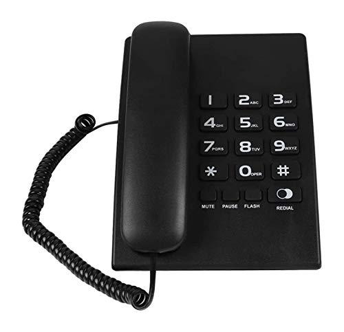 gujiu Teléfono Retro Teléfono Teléfono Teléfono Teléfono de Desktop Teléfono Teléfono Teléfono Función de Redáneo Teléfono Fijo Cordon para Inicio/Oficina