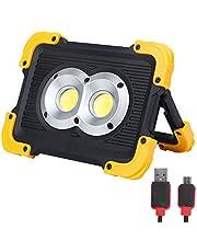 FISHNU ナイロン ケース 充電式LED ワーク ライト、1800Lm LED フラッド ライト、内蔵 リチウム 電池 USB ポート チャージ モバイル 機器 付