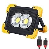 Luces de trabajo LED recargables de caja de nylon FISHNU, luz de inundación llevada de 1800 lúmenes, baterías de litio incorporadas con puerto USB para cargar dispositivos móviles