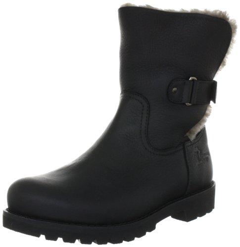 Panama Jack Felia Igloo Damen Warm gefüttert Biker Boots Halbschaft Stiefel & Stiefeletten, Schwarz (Black B3), 37 EU (4 Damen UK)