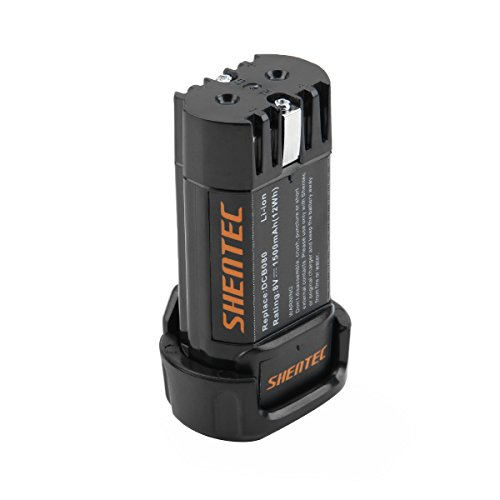 Shentec 1500mAh 8-Volt Replacement Battery Compatible with DEWALT DCB080 Dewalt DCF680N1 DW4390 DCF680N2 DCF680G2, Li-ion Battery