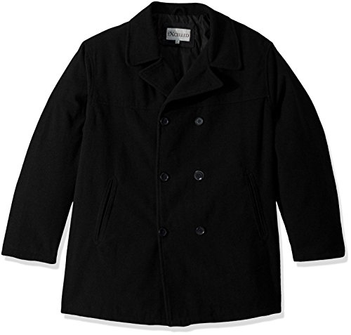 Excelled Leather mens Big and Tall Polyester Peacoat Faux Leather Jackets, Charcoal, 3X US