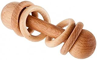 Wooden Rattle With Rings, Baby rattle