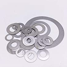 Ochoos 100 Pcs Thickness 0.3mm Flat Washer Ultrathin Gasket Thin Shim Washers Stainless M3 M4 M5 M6 M8 M10 M12 M13 M14 M15 M16 M17 - (Inner Diameter: M14, Outer Diameter: 20mm)