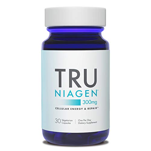 TRU NIAGEN NAD+ Booster for Cellular Repair & Energy Metabolism (Nicotinamide Riboside) - 300mg Vegetarian Capsules, 300mg Per Serving - 30 Day Bottle