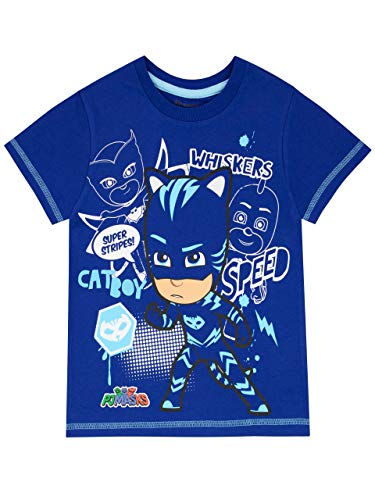 PJ Masks Camiseta de Manga Corta para niños Catboy Azul 3-4 Años