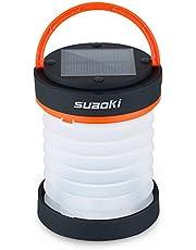 suaoki 3WAY高輝度LEDランタン ソーラーライト 懐中電灯 電池不要 USB充電 アウトドアや災害時の備えに