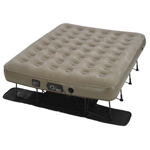 Insta-Bed Ez Queen Raised Air Mattress with NeverFlat -...