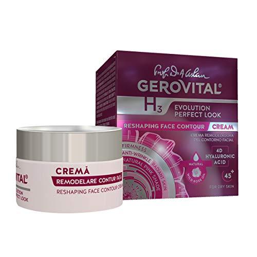 Gerovital H3 Evolution Perfect Look, Crema remodeladora del contorno facial, Tipo de piel: Seca, 50 ml