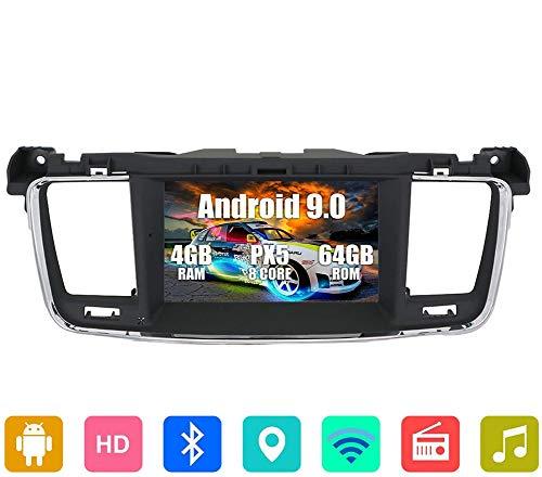 XXRUG GPS-Navigation Karte Satellite Navigator Gerät für Peugeot 508 2011-2017 7 Zoll-DVD-Player, IPS Touch Screen, Wireless-LAN, Bluetooth, AM/FM-Empfänger, Lenkrad-Steuerung Auto-Stereo