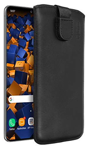 mumbi Echt Ledertasche kompatibel mit Samsung Galaxy S20+ Hülle Leder Tasche Hülle Wallet, schwarz - 6.7 Zoll