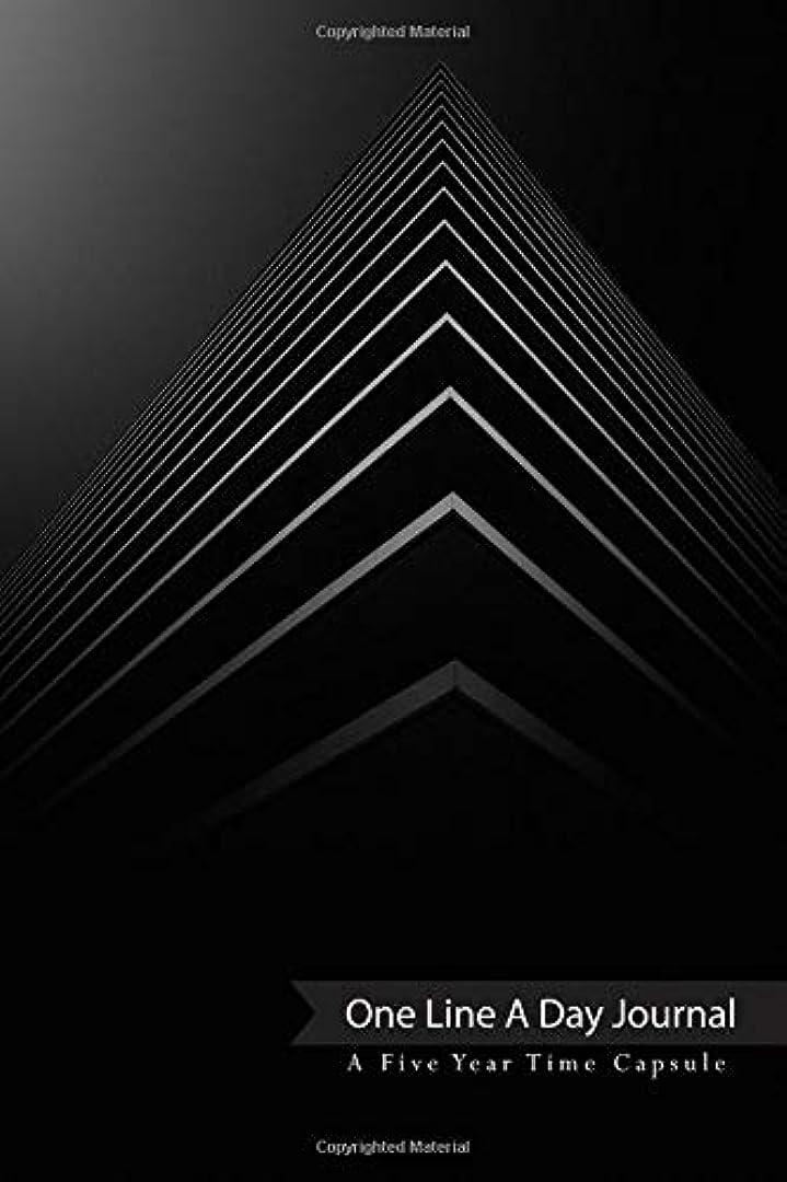 教育タイトクリックOne Line A Day Journal A Five Year Time Capsule: Architecturally Geometric Book Cover Design for the Simplistic Minimalist who Enjoys Journaling