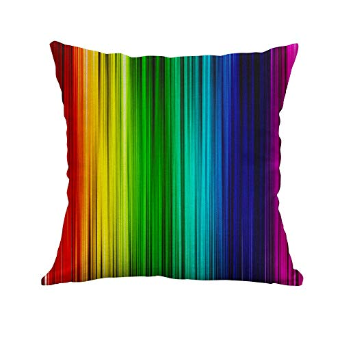 Yvelands home Quadrato Federa Cuscino Set Custodia Piazza Gettare Soft Solid Decorativa Federe Set Cuscino per Divano Letto Auto Pillow,Seven Color Creative Pillow B
