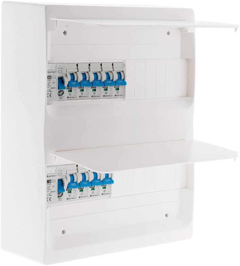 Photo de coffret-t3-26-modules-blanc-equipe-de-9-disjoncteurs-et