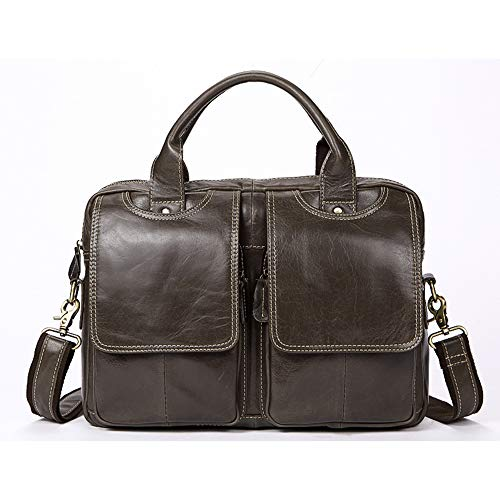 Poooooi Männer Aktentasche Umhängetasche Reisetasche Querschnitt Männer Umhängetasche Umhängetasche Retro-Serie Tasche Leder Männer,01