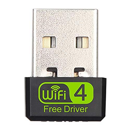 Ontracker - Adaptador de tarjeta WiFi de 150 Mbit/s, mini USB, adaptador de tarjeta de red inalámbrica para ordenador portátil de sobremesa, antena Wi-Fi para Windows 10, 8, 7 y Mac OS