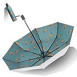 Sonnenschutz Sonnenschirm 96cm Sonnenschirm Retro Double-Layer-Sonnenschutz Weibliche Vinyl Kühl Regenschirm Schutz (Color : A)