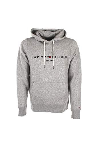 Tommy Hilfiger Tommy Logo Hoody 0752 Sudadera con Capucha, Gris (Cloud Htr 501), L para Hombre