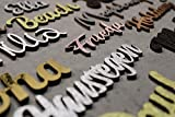 personalisierter Schriftzug aus Holz verschiedene Größen beeindruckende Farben Geschenk für Mann, Frau, Kind, Baby, zur Geburt und Deko personalisiert und individuell