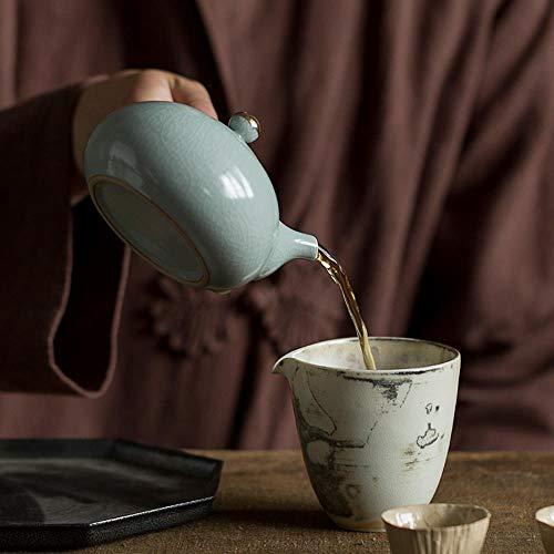 xmwm TANGPIN Japan Keramik Teekanne Seitengriff Teekanne Chinesisches Kung Fu Getränk Ware Teesets 220 ml, hellgrün