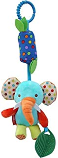 Baby Toys Soft Hanging Rattle Crinkle Squeaky Toy Infant Newborn Stroller Car Seat Crib Travel Activity Plush Animal Wind ...
