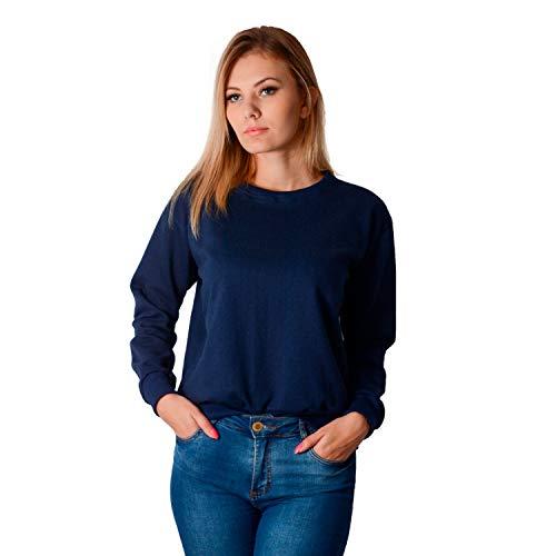 Blusa de Moletom Flanelada Fechada Part.B (Azul, G)