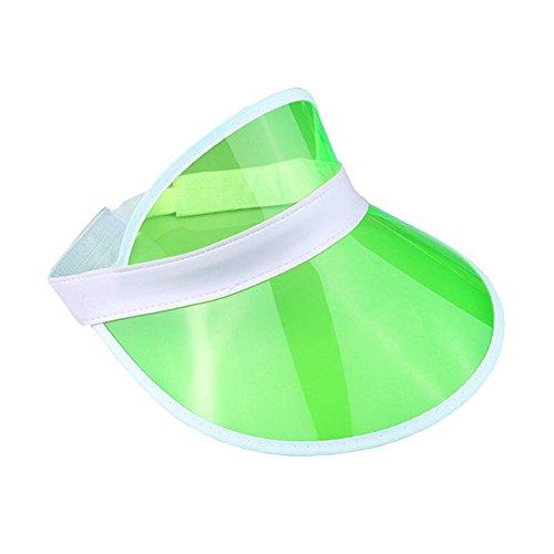 The Glowhouse Unisex Sonnenvisier - im Retro-Stil der 80er-Jahre - für Golf, Tennis, Junggesellenabschiede & Pokerpartys - Neonfarben - Grün - Einheitsgröße